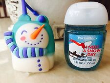 Bath & Body Works Pocketbac Holder Snowman ChristmAs Set Rare