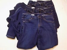 3 pairs 27 R Gap 1969 Blue Jeans Perfect Boot Sexy Womens Ladies LOT Dark Pants