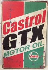CASTROL GTX  Vintage Retro Metal Tin Sign Plaque Garage Bar Pub ManCave-