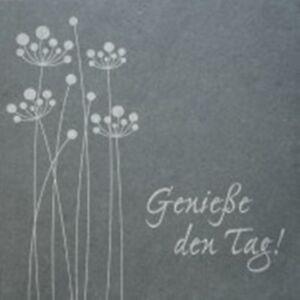 """Schiefer-Relief mit Bronze-Elementen """"Genieße den Tag"""" - 154237"""