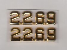 US VFW Veterans of Foreign Wars collar pin badge 2269 clutchback set