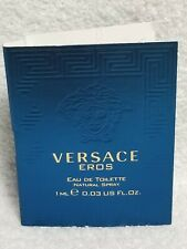 Versace VERSACE EROS Eau De Toilette EDT Spray Sample/Vial Men .03 oz/1mL New