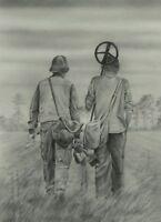 Detectorists BBC TV Ltd Edition PRINT Dave Hartley original drawing landscape