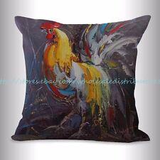 US SELLER, farmhouse animal rooster chicken cushion cover decor pillows cheap