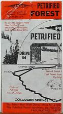 1940's or 50's Pike Petrified Forest Florisant Colorado brochure & ticket b