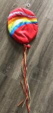 Vintage Russ Hot Air Balloon Rainbow Teddy Nursery Wall Hanging Decor Fabric