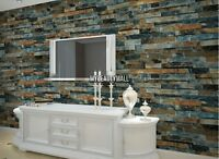 10M Roll 3D Real Look Brick/Stone Wallpaper Mural Wall Background Home Decor US