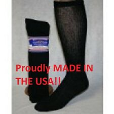 12 Pair of Black Over The Calf Diabetic Socks Size 10-13 Over Calf Diabetic Sock