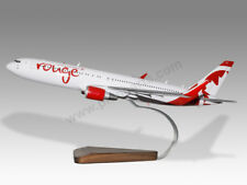 Boeing 767-300 Air Canada Rouge Solid Mahogany Wood Handcrafted Display Model