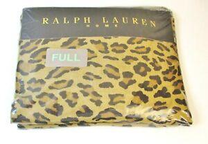 NEW! Ralph Lauren Home Aragon Neutral Leopard Print FULL Flat Sheet, 200 Thread