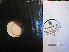 "VINYL 12"" THE NOTORIOUS B.I.G. HOPE YOU NIGGAS SLEEP PROMO  GREAT CONDITION"
