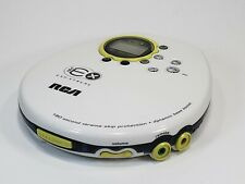 RCA 180 ESP Xtreme RP2463 Portable CD Player Pearl White Skip Protect Bass Boost