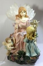 Angel Music Boxes - Lot of 2 - Angel in Gardena & Rotating - Beautiful but Flaws