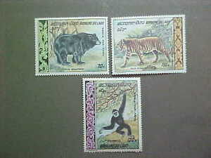LAOS Scott #C59-61  NH Tiger/Black Bear/Baboon