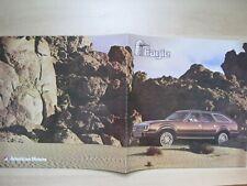 AMC Eagle large prestige Prospekt brochure English text 12 pages 1985 Canada