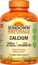 Sundown Calcium + D3 Softgels, 170 Ct (4 Pack)