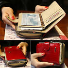 Lady Women Short Wallet Genuine Leather Small Clutch Purse ID Credit Card Holder