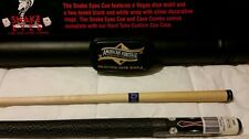 American Heritage Snake Eyes pool cue and case combo. $100 retail.