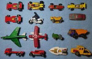 Matchbox Diecast Seafire Plane Ferrari Honda Bike Vehicle Toy x16 CAR Lot 3