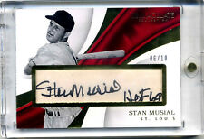 "2017 Panini Immaculate Stan Musial Autograph Parchment ""HOF 69"" Auto #06/10"