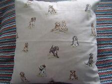 Dog Print Linen Cushion Covers