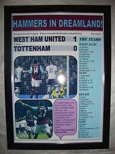 West Ham United 1 Tottenham Hotspur 0 - 2016 - framed print