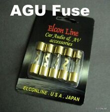 5 x NEW Brass AGU Glass Fuse 40A AMP for Car Stereo Audio #GTC