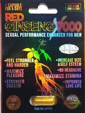 FREE INTERNATIONAL SHIPPING 1 Pill RED GINSENG 7000 Male Enhancement Stimulant