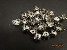 Lote de 500 color plata oscuro De Trabajo Hierro del grano gorras, 4 Pétalos Flor, 8 mm diámetro, 4 mm de profundidad