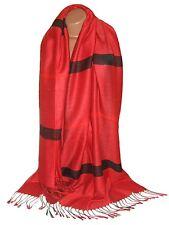 Etole Fine,  écharpe - tartan  rouge, noir, - neuve