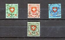 Schweiz Michel Nr. 194-197 gestempelt, Freimarken Wappen - b0049