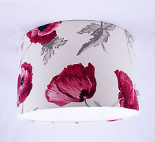 "11"" Lampshade Handmade in UK - Laura Ashley Freshford Poppy Fabric"