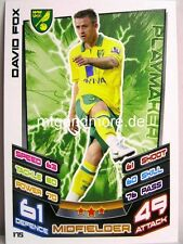 Match ATTAX 2012/13 Premier League - #175 David Fox-Norwich City