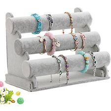 3 Tier T Bar Jewelry Display Stand Bracelet Necklace Anklet Holde GIFT NEW