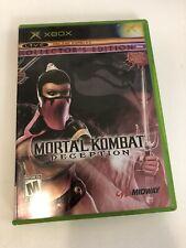 Mortal Kombat: Deception -Kollector's Edition (Microsoft Xbox) W Steel Card