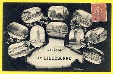 cpa 76 - Carte Postale Postale Ancienne de 1907 SOUVENIR de LILLEBONNE Multivue