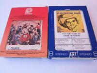 Lot of 8 Track Tapes Willie Nelson Country Winners and Hank Williams Very Best