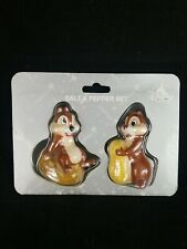 New Disney Parks Chip & Dale Salt & Pepper Shakers 2 Pc Set Kitchen Dinner