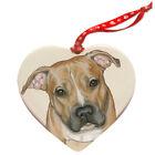 Pit Bull Porcelain Pet Gift Heart Ornament