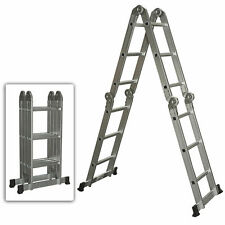 Aluminum Ladder Folding Step Ladder Extendable Heavy Duty Multi Purpose