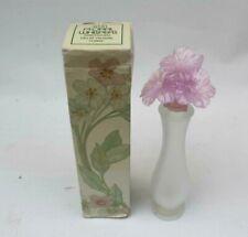 Vintage Avon Floral Whispers Honeysuckle Perfume Bottle EMPTY Display In Box