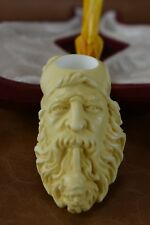 Dunhill Head PIPE-BLOCK MEERSCHAUM-NEW-HANDCARVED- W Case Tamper#230