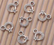 Wholesale 500 PCS Tibetan silver Craft Moon Stars Jewelry Making Charms Pendants