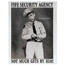 BARNEY FIFE SECURITY AGENCY Retro Metal Poster Tin Sign