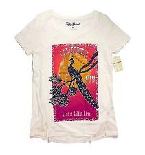Lucky Brand - Womens M - NWT - Golden Bird Floral Stamp Print T-Shirt - Tee