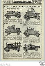 1933 PAPER AD Gilmore Skippy Racer Streamline Pedal Car Scout White Motor Truck