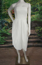 FANCY BRIDAL NY  WEDDING GOWN DRESS TEA SILK WHITE SIZE 6 VINTAGE INSPIRED