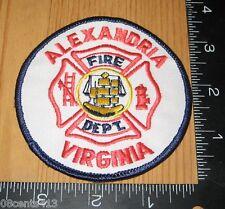 Alexandria Virginia Fir Department Circle Cloth Patch Only