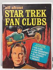 Late 1970s All About STAR TREK FAN CLUBS # 1 Vintage Magazine- FREE S&H