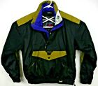 Mountain Goat Men's Ski Jacket M Black/Gold 1/4 Zip Pullover Snowboard